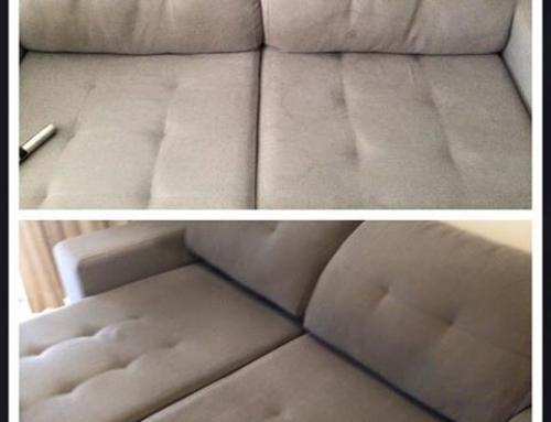 Antes e Depois sofá