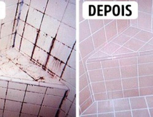 Como limpar azulejos de banheiro.